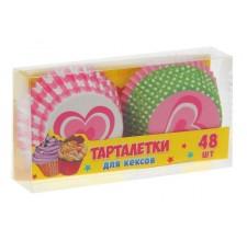 "Набор тарталеток ""Сердечки"" 48 шт"