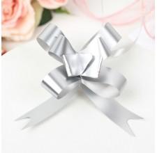 Бант-бабочка №1,8 голография, серебряный  (2947885)