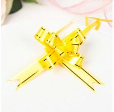Бант-бабочка №1,2 золотая полоса, желтый (2947913)