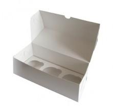 Упаковка на 3 капкейка - Белая (SP CUP3)