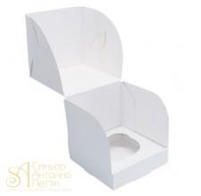 Упаковка на 1капкейк - Белая, 10*10*h10см. (SP CUP1)