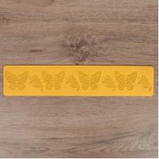 Рельефный силиконовый коврик для создания кружев - Бабочки (2581440)