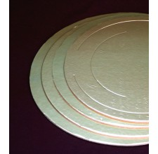 Круглая золотая подложка, 26см, 3,5мм