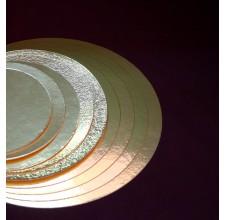 Круглая золотая подложка, 18см