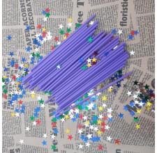 Палочки для кейк-попс  фиолетовые, 50шт