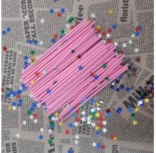 Палочки для кейк-попс  розовые, 50шт