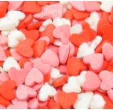 Посыпка кондитерская - Сердечки красные, белые, розовые, 50гр. (ipSH.2834/p)