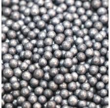Сахарные бусинки - Черные перламутровые, 5мм. 50гр. (50/152029)