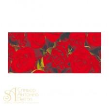Бордюрная лента с рисунком - Розы, 50мм. 305м. 40мкр. (NSAH 50 Розы)