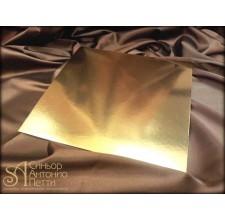 Квадратная золотая подложка, 26*26см. (Plate 26*26/р)