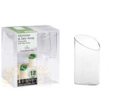 Пластиковый стаканчик - Диагональный, 80мл. 18шт. (PMO 081800)