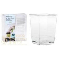 Пластиковый стаканчик - Квадратный, 175мл. 10шт. (PMOCU 0031000)