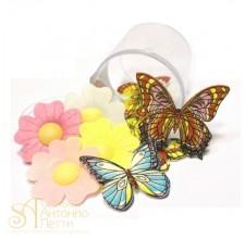 Набор вафельных украшений - Цветы и бабочки, 10шт. (WFKIT-1)