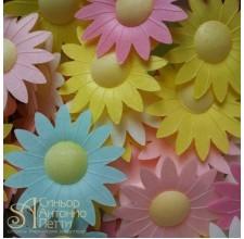 Вафельные цветы - Маргаритки, Микс, 10шт. (10/13042RA)