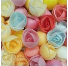 Вафельные цветы - Пионы, Микс, 10шт. (10/13044RA)
