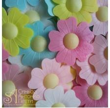 Вафельные цветы - Шиповник, Микс, 10шт. (10/13060RA)