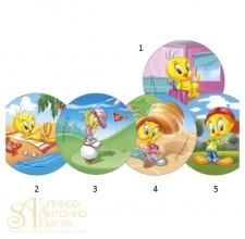 Вафельная пластина - Looney Tunes, 14.5см. (40741/p)