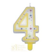 Желтая свеча - Цифра 4 (230464)