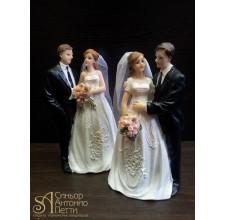 Свадебная фигурка - Свадебная пара (28501/p)