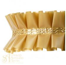 Лента с золотым переплетением - Золотая, 2м. (24192*I/2)