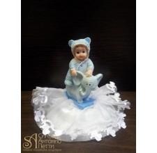 Фигурка новорожденного, голубая (26166*C/p)