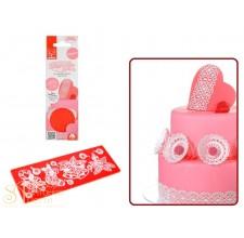 Рельефный силиконовый коврик Sweet Lace Express - Новогодний, 7*18,8см. (30718)