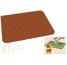 Силиконовый антипригарный коврик для макарун, 30*40см. (30TM3001R)