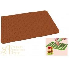 Силиконовый антипригарный коврик для макарун, 40*60см. (30TM6001R)