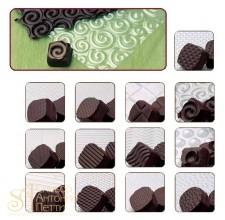 Пластины для работы с шоколадом, 13шт. (MACL 01)