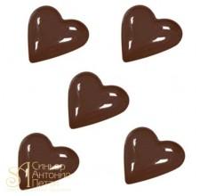 Форма для отливки шоколадных фигурок - Маленькие сердечки (90-1001)