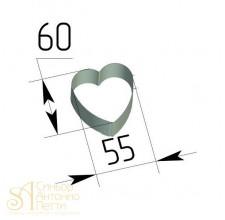 Металлическая вырубка - Сердце (CUT HEART1)