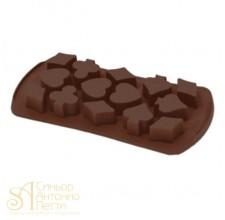 Силиконовая форма для конфет - Карты (HF 05631)