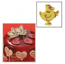 Набор форм для создания шоколадных конфет с рисунком - Курочка, 2шт. (20-C002)