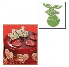 Набор форм для создания шоколадных конфет с рисунком - Пасхальный кролик, 2шт. (20-C005)