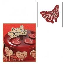 Набор форм для создания шоколадных конфет с рисунком - Бабочка, 2шт. (20-C010)