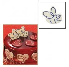 Набор форм для создания шоколадных конфет с рисунком - Пчела, 2шт. (20-C012)