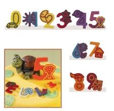 Набор форм для создания шоколадных конфет с рисунком - Веселые цифры 0-9, 2шт. (20-C023)